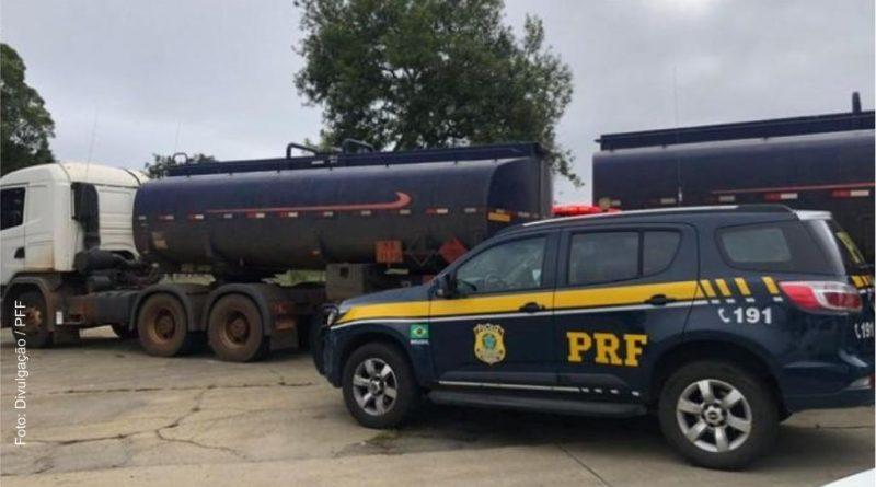 PRF apreende caminhão-tanque com carga irregular em Vitória da Conquista